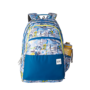 Wildcraft Wiki 8 Stamp Backpack - Blue