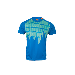 Wildcraft Men Hypacool Crew T Shirt - Wave Print - Blue